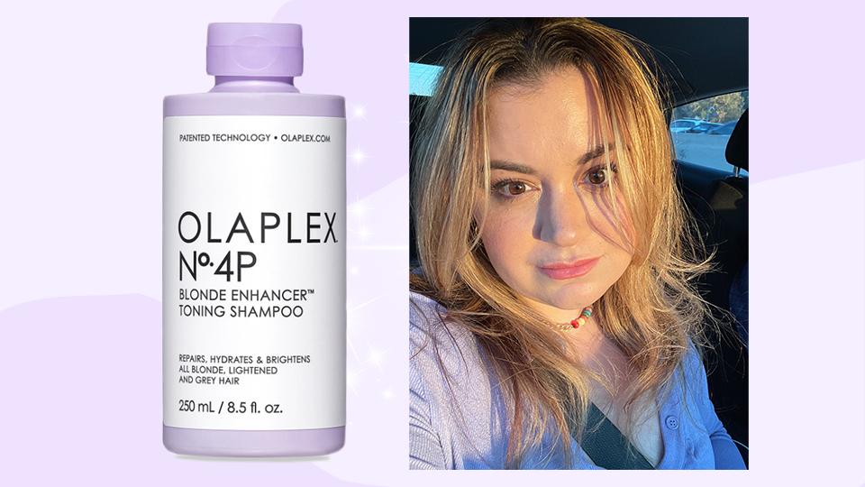 Olaplex's New Purple Toning Shampoo Seriously Brightened My Brassy Blonde