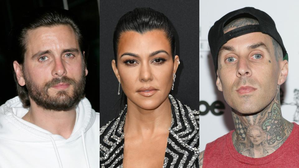 Scott Disick, Kourtney Kardashian, Travis Barker