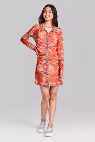 target wild fable mesh dress