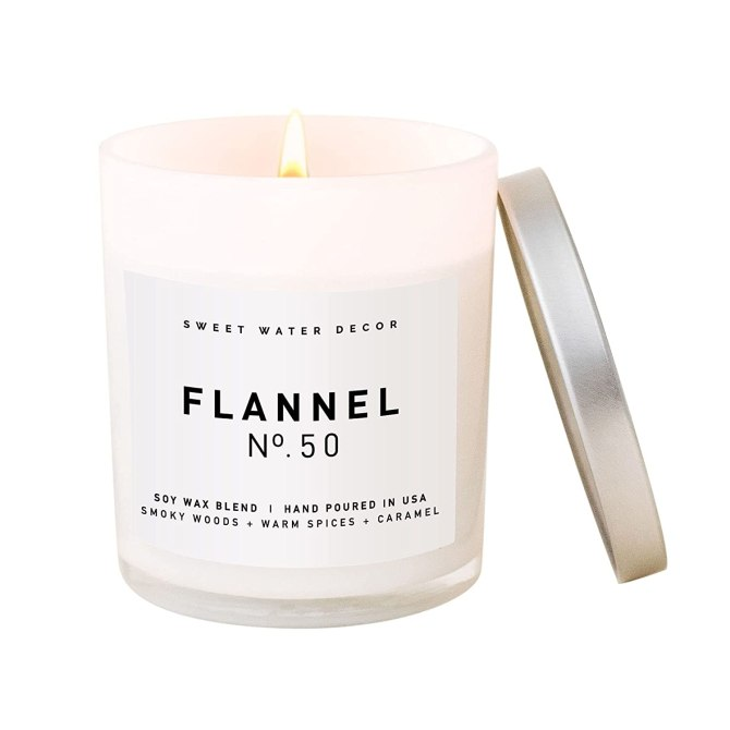 Sweet Water Decor Flannel Candle