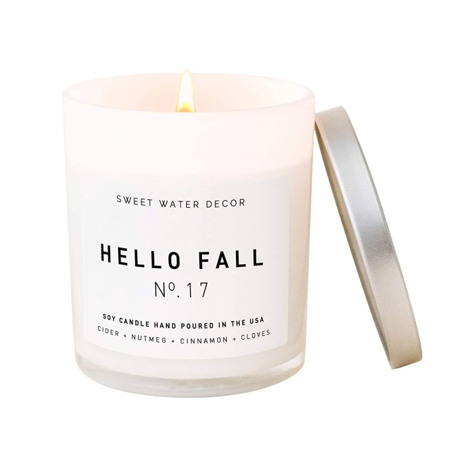 Sweet Water Decor Hello Fall Candle