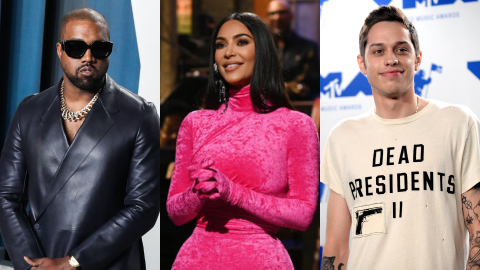Here's How Kanye Feels About Kim Kissing Pete Davidson on 'SNL' Right After Dissing Him | StyleCaster