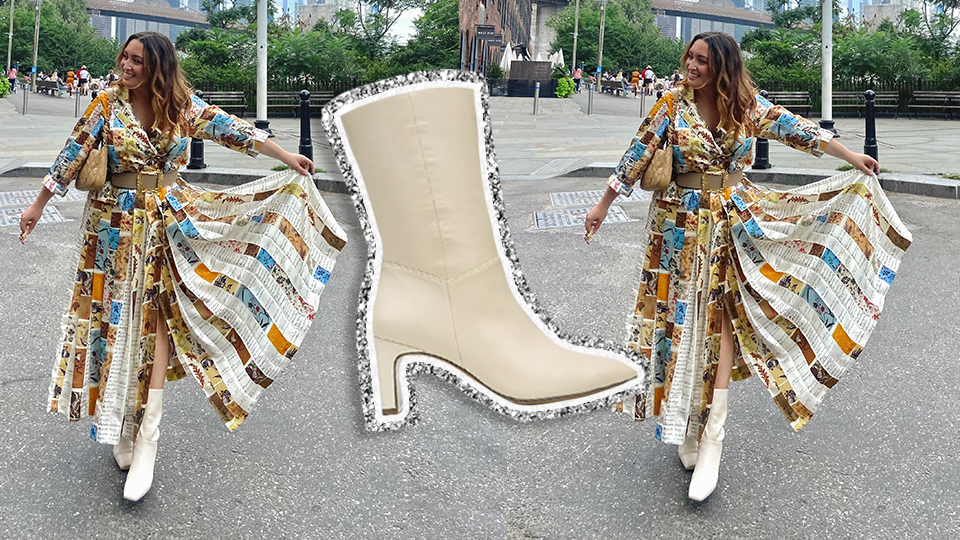 My Favorite White Boots Are On Sale Now & They Go With Literally Everything | StyleCaster