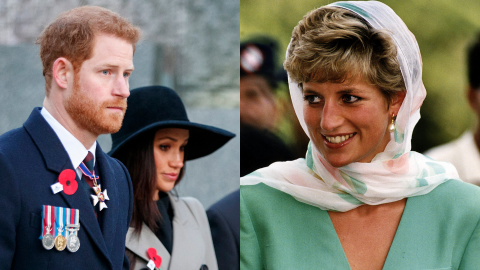 Meghan Was in 'Tears' Over Her Future Husband Harry's Last Note to Diana at Her Funeral   StyleCaster